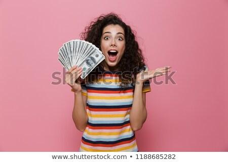 Afbeelding rijke vrouw 20s krulhaar Stockfoto © deandrobot