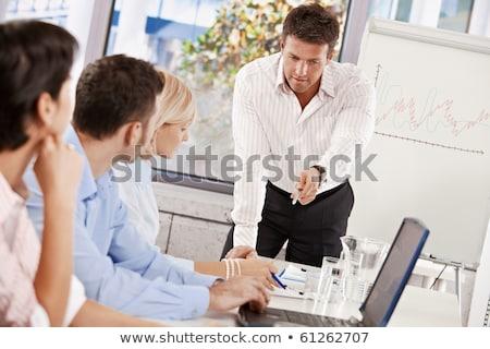 réunion · travaux · heureux · construction · affaires - photo stock © diego_cervo