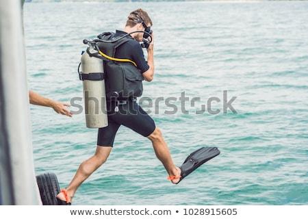 Aller mer commencer plongée eau métal Photo stock © galitskaya