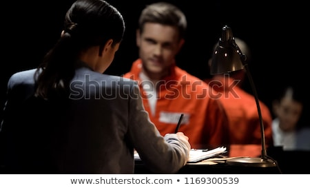 Stock fotó: Police Detective Recording The Statement Of A Suspect Or Witness