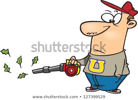 садовник лист воздуходувка рисунок эскиз стиль Сток-фото © patrimonio