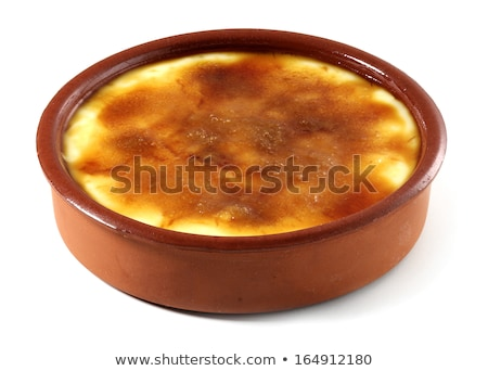 Creme brulee in the pots Stock photo © Alex9500