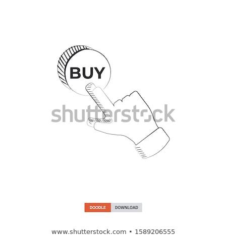 Parmak satın almak düğme karalama Stok fotoğraf © RAStudio