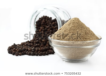 black pepper powder isolated on white background stock photo © threeart