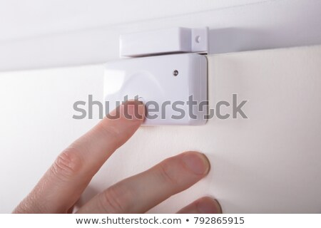 Person Hand Fixing Security System Door Sensor Stock photo © AndreyPopov