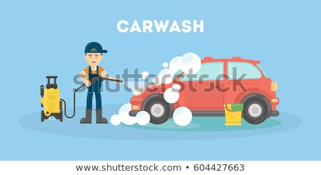 Car wash flat concept icons Stock photo © netkov1