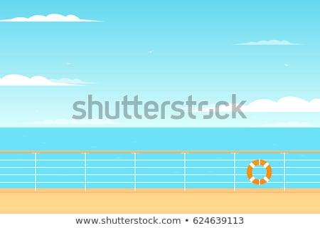 lifebuoy on the deck of the ship stock photo © kotenko