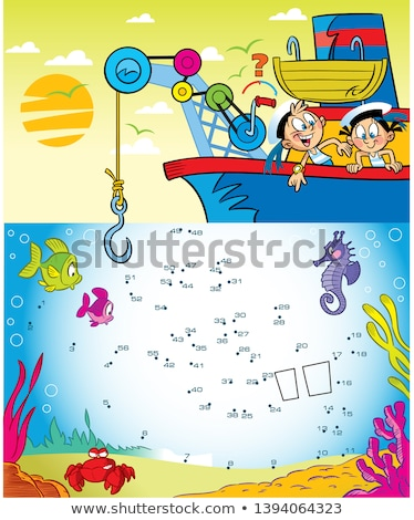 Numbers underwater and animals on the ship Stock photo © colematt