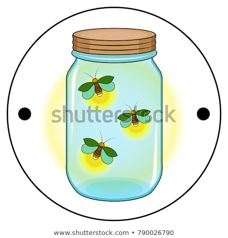 Verre transparent jar insectes isolé Photo stock © Lady-Luck