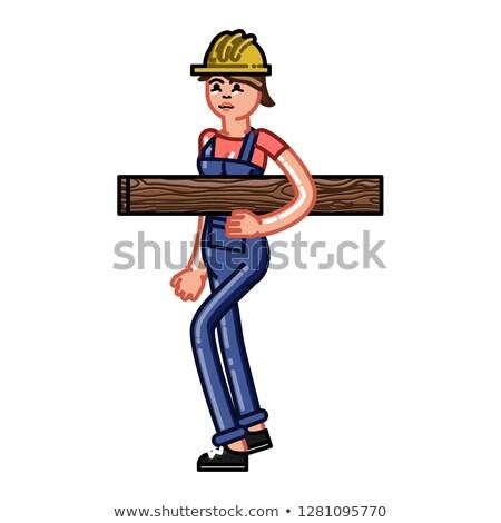 Builder bears timber Stock photo © netkov1