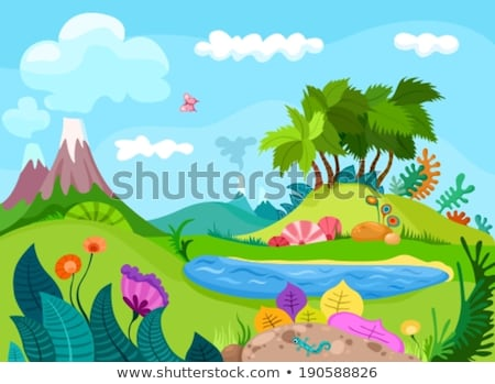 Bos landschap vulkaan jungle planten boom Stockfoto © Natali_Brill