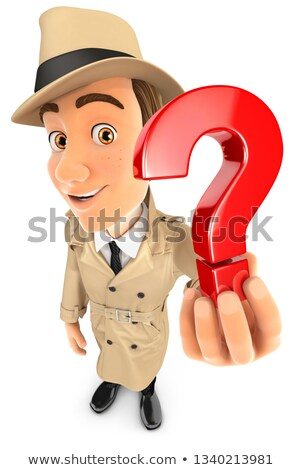 3d detective holding a question mark icon Stock photo © 3dmask