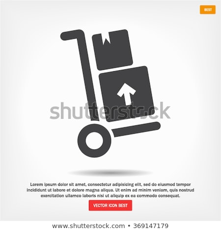 warehouse trolley icon stock photo © angelp