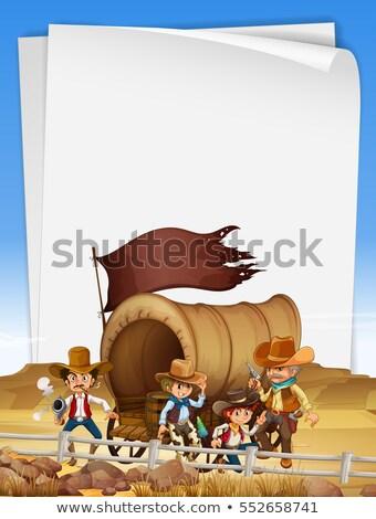 Papel modelo campo ilustração homem paisagem Foto stock © colematt
