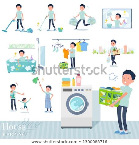 Quiroprático conjunto homem limpeza Foto stock © toyotoyo