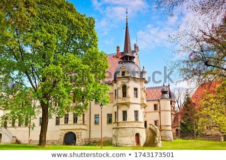 Pałac wschodniej Niemcy budynku ogród zamek Zdjęcia stock © LianeM
