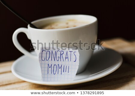 text congrats mom in a piece of paper Stock photo © nito