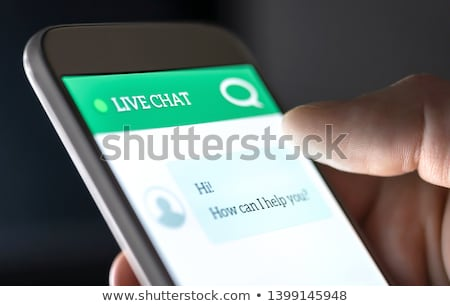 Online help and online customer support on smartphone concept. Flat vector illustration Stock photo © makyzz