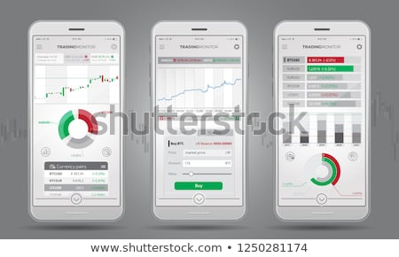 Trading Platform Interface With Infographic Elements Stock photo © ConceptCafe