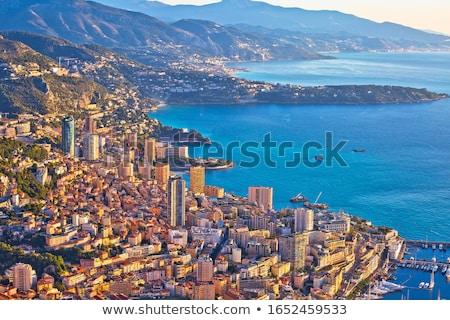 Mônaco cityscape porto colorido panorâmico ver Foto stock © xbrchx
