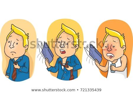 Man Degrees of Comparison Hot Hottest Illustration Stock photo © lenm