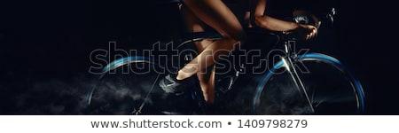 Kép bicikli kerekek mozgás digitális művészet Stock fotó © amok