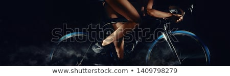 Cropped image bicycle wheels motion digital art effect body part Stock photo © amok