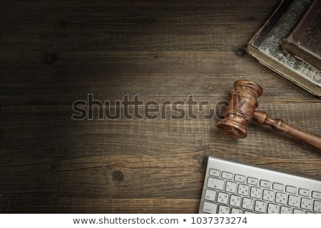 A law book with a gavel  - Trade law Stock photo © Zerbor