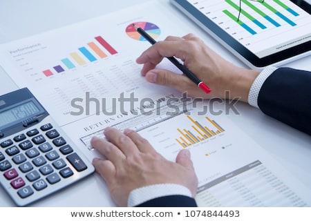Visszatérés beruházás szöveg kék világtérkép társasági Stock fotó © Mazirama