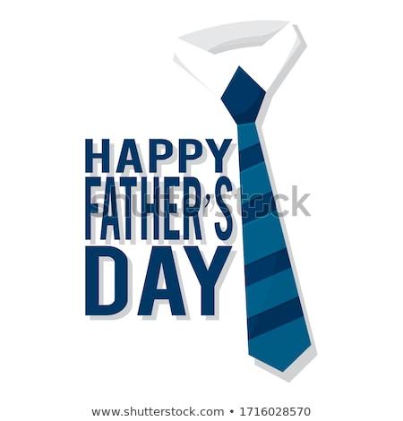 Jour de pères heureux shirt cravate amour homme heureux Photo stock © SArts