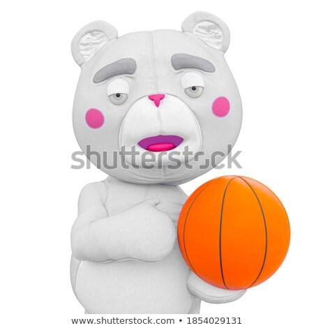 3d illustration bear athlete stock photo © karelin721