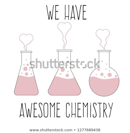 'We have awesome chemistry', love quote Stock photo © balasoiu
