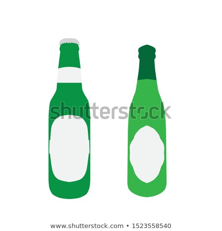 hand drawn blank color beer bottle set vector stock photo © pikepicture