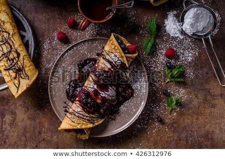 パンケーキ 暗い 自家製 石 食べ 甘い ストックフォト © furmanphoto
