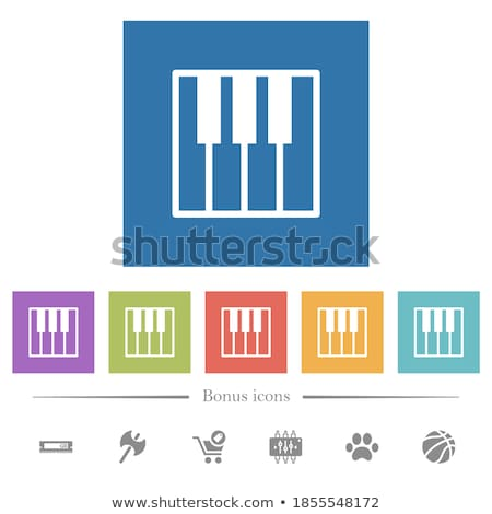 Piano Keyboard Icon Stock photo © angelp