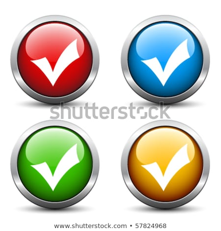 Colorful Shiny round button with check mark Stock photo © Blue_daemon