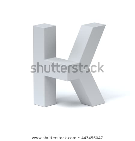 Blue extruded font Letter K 3D Stock photo © djmilic