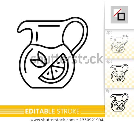 Infusie vruchten thee illustratie mascotte vol Stockfoto © lenm