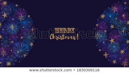 goud · christmas · sneeuwvlokken · zwarte · ruimte - stockfoto © olehsvetiukha