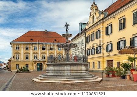 Marché carré Autriche fontaine Voyage cityscape Photo stock © borisb17