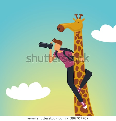 Wildlife, nature photographer flat vector illustration Stock photo © barsrsind