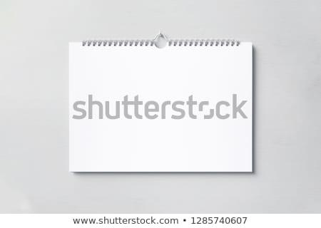 Muur kalender 3d illustration geïsoleerd witte voorjaar Stockfoto © montego