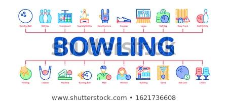Bowling játék szerszámok minimális infografika szalag Stock fotó © pikepicture