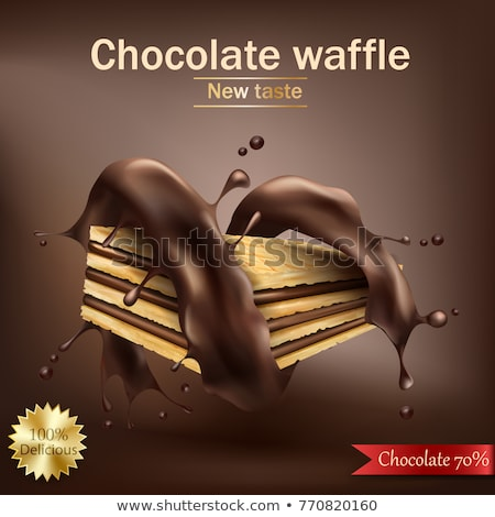 vector wafer and melting chocolate background Stock photo © freesoulproduction