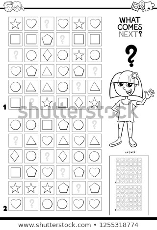 fill the pattern task for children coloring book page Stock photo © izakowski