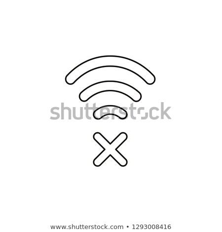 Wifi fout icon vector schets illustratie Stockfoto © pikepicture