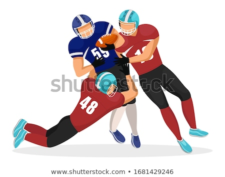American Football Player Falling Down, Gridiron Stock photo © robuart