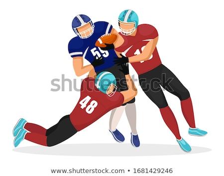 アメリカン 下がり ダウン プレーヤー ボール ストックフォト © robuart