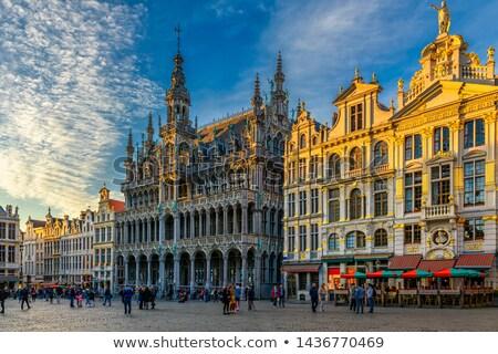 家 ブリュッセル ベルギー 建物 roi 場所 ストックフォト © ShustrikS