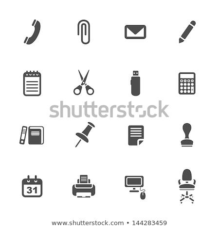 Trabajadores documentos documentos establecer oficina vector Foto stock © robuart